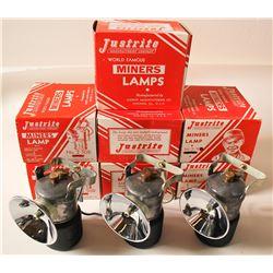 NIB Justrite No. 2-500 Carbide Lamps (10)
