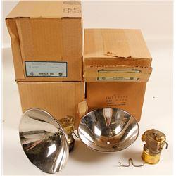 NIB Justrite No. 2-870 Carbide Lamps (4)