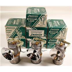 Justrite #2-500 Carbide Lamps in Original Boxes (10)