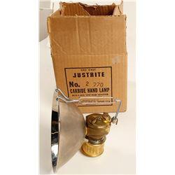 Justrite No. 2-770 Carbide Lamp, Mint in Original Box