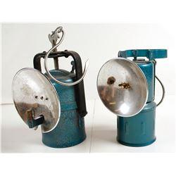 2 Premier Carbide Lamps