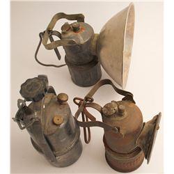 3 Different Carbide Superintendent Lamps