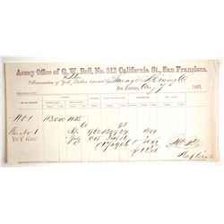 GW Bell Assay Receipt for Savage Mine Ore