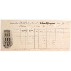 Kellog & Humberts Assay Receipt to Darius Ogden Mills & Company