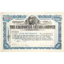 California-Nevada Copper Co. Stock Certificate