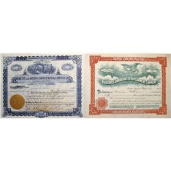Two Different Huachuca Mining District Stock Certificates