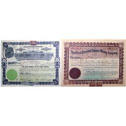 Black Diamond Copper Mining Co. Stock Certificate Pair