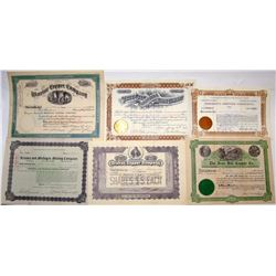 Globe, Arizona Mining Stock Certificate Collection