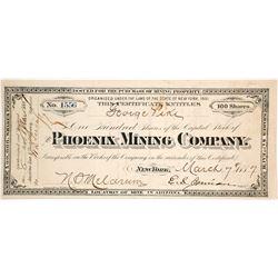 Phoenix Mining Company Stock Certificate