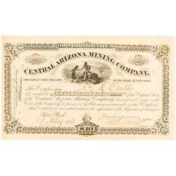 Central Arizona Mining Co. Stock Certificate