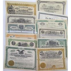 Mohave County Mining Stock Certificate Collection