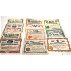 Pima County, Arizona Mining Stock Certificate Collection