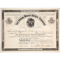 Burro Burro Mining Company Stock Certificate