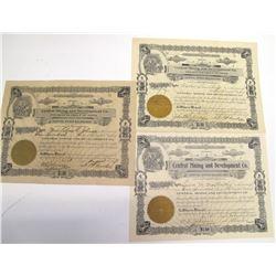Central Mining & Development Co. Stock Certificates, Winkelman District