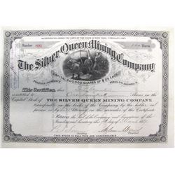 Silver Queen Mining Company Stock Certificate, Pioneer District