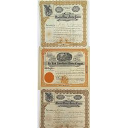 Three Santa Cruz County, Arizona Mining Stock Certificates