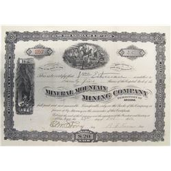 Mineral Mountain Mining Company Stock Certificate, Santa Rita Mountains