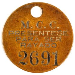 Magma Copper Co. Equipment Tag