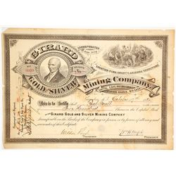 Girard Gold & Silver Mining Co. Stock Certificate, Tombstone