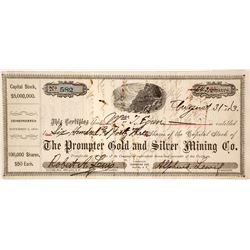 Prompter G&S MC Stock Certificate