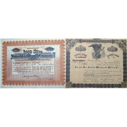 Arizona Mining Stock Certificates with Texas Names