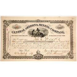 Central Arizona Mining Co. Stock Certificate, 1881, Vulture
