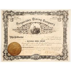 Hesperides Mining Company Stock Certificate