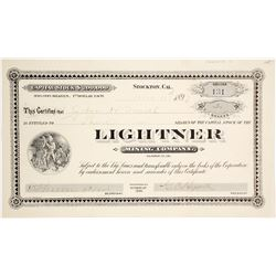Lightner Mining Company Stock Certificate