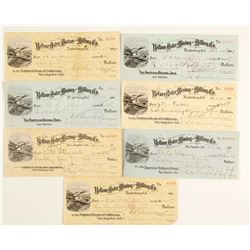 Yellow Aster Mining and Milling Co. Checks