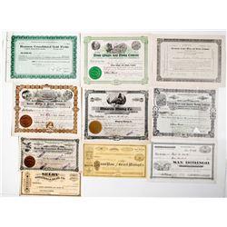 California Mining Stock Certificates (10)