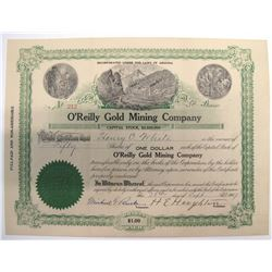 O'Reilly Gold Mining Company Stock Certificate