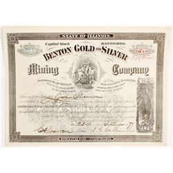 Benton Gold & Silver Mining Co. Stock Certificate