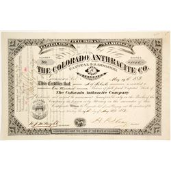 Colorado Anthracite Company Stock Certificate