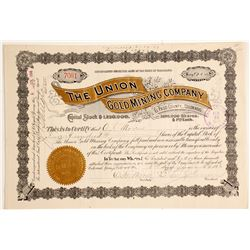 Union Gold Mining Co. Stock Certificate, Cripple Creek