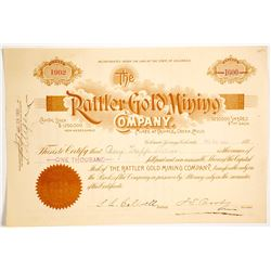 Rattler Gold Mining Company Stock Certificate