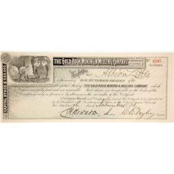 Gold Rock Mining & Milling Stock Certificate