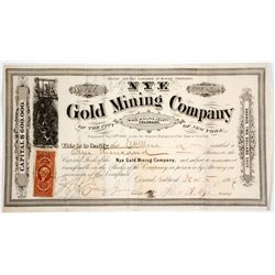 Nye Gold Mining Company Stock Certificate