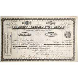 Brookland Mining Stock Certificate
