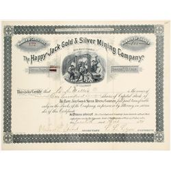 Happy Jack Gold & Silver Mining Co. Stock Certificate