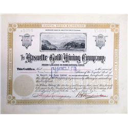 Mascotte Gold Mining Co. Stock Certificate