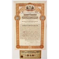 Colorado Mining Stock Certificate and Bond