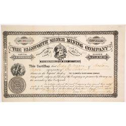 Ellsworth Silver Mining Co. Stock Certificate