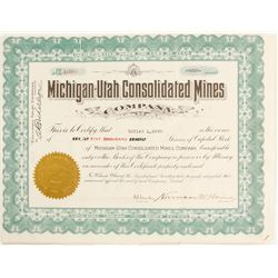 Michigan-Utah Consolidated Mine Stock