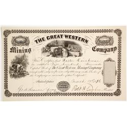 The Great Western Mining Co. Stock Certificate