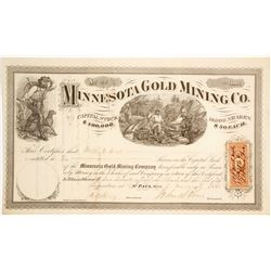 Minnesota Gold Mining Co. Stock Certificate