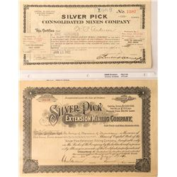 Silver Pick Mines Stock Certificates
