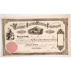Warren Silver Mining Company Stock Certificate
