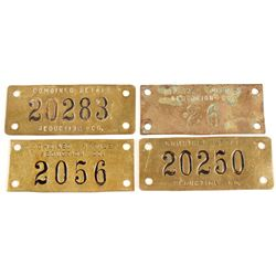 Combined Metals Reduction Co. Equipment Tags