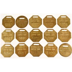 Kennecott Copper Corp. Brass Equipment tags (15)