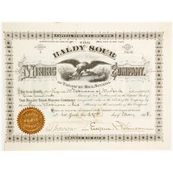 Baldy Sour Mining Company Stock Certificate